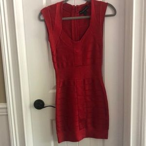 French connection dress size 2, red.